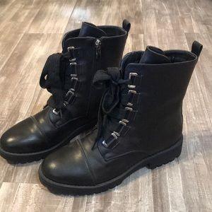 Nasty gal black combat boots
